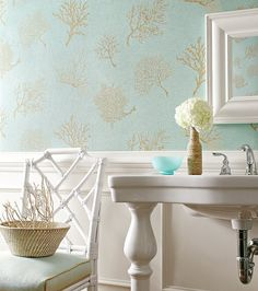 Funky bathrooms on pinterest powder rooms funky for Funky bathroom wallpaper ideas