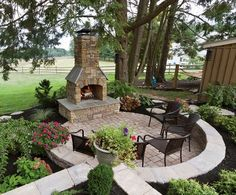 EP Henry patio in Coventry Stone I with fireplace in Cast Veneer Stone…