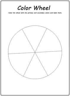 Homeschool Helper Online's Color Wheel Worksheet
