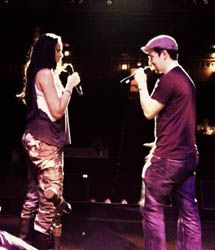 Lin-Manuel Miranda and Karen Olivo from In the Heights