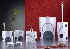 Bathroom Accessories Set White - http://www.decoradvices.com/bathroom-accessories-set-white/