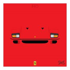 My #favorite #illustration, and my #favorite #car too! The most #famous #Ferrari ever made! The #glorious #F40  #v8 #3.0L #biturbo #rosso #scuderia #maranelo #italy #exotic #insta_exotic #classic #amazing #fan #art #minimalcarillustration #minimalism #minimalist   Follow me for more illustrations!