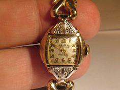 Vintage Ladies Gruen Watch with DiamondsAS IS by My3LadiesJewelry, $12.50