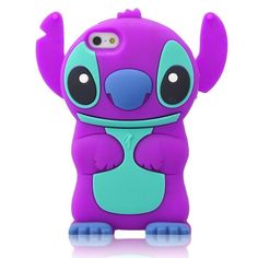 DE Cute 3D Cartoon Animal Series Apple iPhone 5C Case New Purple 3D Cartoon Stitch Movable Ear Shape Style Soft Silicone Rubber Case Protective Cover for Apple iPhone 5C:Amazon:Cell Phones & Accessories
