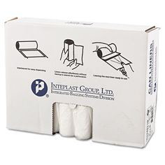 Inteplast Group High-Density Can Liner 33 x 40 33gal 11mic 25/Roll 20 Rolls/Carton