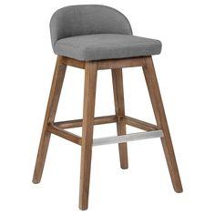 Tabouret de comptoir en tissu avec pieds en bois/Tabourets de bar et de comptoir/Salle à manger/Meubles|Bouclair.com