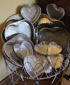 Memories of heart shaped cakes and jellos for Valentines Day as a young girl.