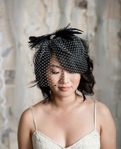 Can anyone think of a non-wedding situation in which I could wear a birdcage veil? Like, could I wear one to work? While grocery shopping?