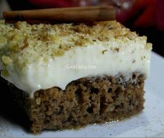 karydopita Greek Cake, Greek Sweets, Christmas In July, Confectionery, Deserts, Food And Drink, Ice Cream, Pudding, Cooking