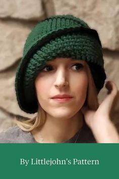Crochet Hat With Brim, Crochet Beret, Crochet Beanie Pattern, Crochet Socks, Tunisian Crochet, Crochet Clothes, Free Crochet, Crochet Patterns, Beginner Crochet Tutorial