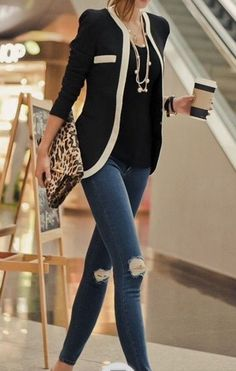 I really like this!, it looks comfortable, the trim is a cute detail. I can pair it with pants or jeans