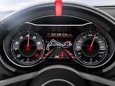 Digital dash on the 2013 Audi TT Ultra Quattro concept