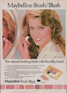 Maybelline Blush ad, 1983