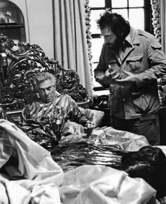 """John Marley y Francis Ford Coppola en el rodaje de """"El Padrino"""" (1972)"""