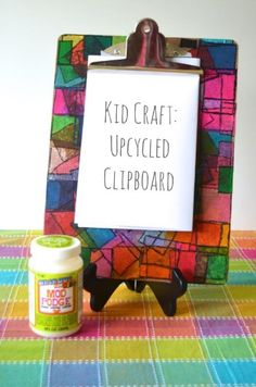Fun Kids Art Project idea using #modpodge