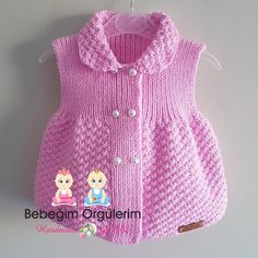 22 New Ideas Crochet Cardigan Children Sweater Coats Knit Baby Dress, Knitted Baby Cardigan, Baby Pullover, Baby Knitting Patterns, Newborn Crochet, Crochet Baby, Baby Vest, Baby Sweaters, Sweater Coats