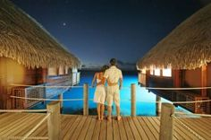 All-inclusive overwater bungalow and water villa resorts