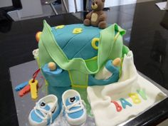 Nappy Bag - Baby Shower cake