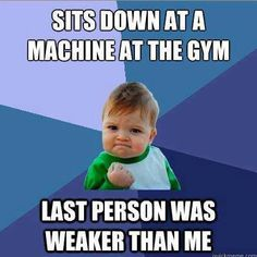 Sits Down At A Machine At The Gym exercise healthy meme motivation weightloss gym http://ift.tt/1HAFgYr Posted by Diana Anderson-Tyler – Haha we all do it. Hate when someone does more than me though… Just gotta remind myself that maybe they're doing less reps/sets