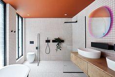 Patricia Urquiola, Cuba, Timber Battens, Open Showers, Ceramic Floor Tiles, Australian Homes, Concrete Blocks, Open Plan Living, Western Australia