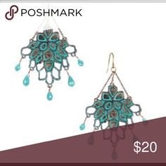 Patina Open Work Chandelier Earrings Beautiful open work chandelier earrings. These earrings are hypoallergenic and nickel-free. Versatile and flawless addition to any bohemian look! Chloe + Isabel Jewelry Earrings