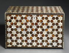 An Ottoman tortoiseshell and mother-of-pearl table cabinet, Turkey, circa century