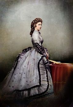 Empress Sissi of Austria by klimbims on DeviantArt Historical Costume, Historical Clothing, Empress Sissi, Reine Victoria, Romy Schneider, 19th Century Fashion, Royal House, Fashion Plates, Vintage Beauty