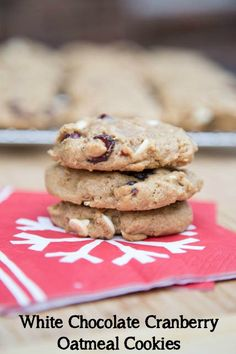 White Chocolate Cranberry Oatmeal Cookies | 5DollarDinners.com