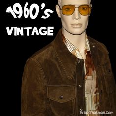 1960's mens vintage suede & leather