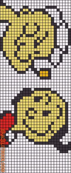 Popeye and olive Micro macrame pattern / alpha friendship bracelet pattern / cross stitch chart - can also be used for crochet, knitting, knotting, beading, weaving, pixel art, and other crafting projects.