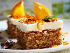 A Food, Food And Drink, Piece Of Cakes, Sweet Cakes, Pavlova, Carrot Cake, Sweet Recipes, Baked Goods, Cheesecake