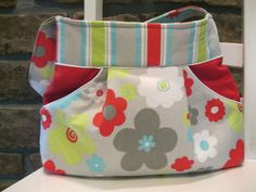 Image detail for -Handmade Fabric Bags Purses - Magnetic Closure - Outside Pockets ...
