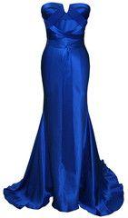 DINA BAR-EL - Lauren Gown Blue - Rent Designer Dresses