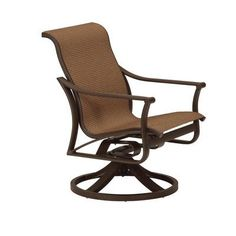 Tropitone Corsica Sling Swivel Rocking Chair (Set of 2) Finish: Obsidian, Fabric: Sparkling Water