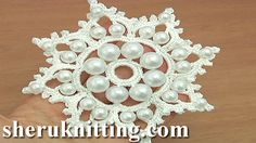 Crochet Beaded Snowflake Tutorial 19 http://sheruknitting.com/videos-about-knitting/crochet-elements-and-projects/item/831-crochet-beaded-snowflake-tutorial-19.html In crochet element tutorial I will be making crochet snowflake with beads.