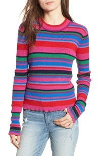 Looking for BP. Ribbed Lettuce Edge Stripe Sweater (Regular & Plus Size) - Women's fashion Sweater ? Check out our picks for the BP. Ribbed Lettuce Edge Stripe Sweater (Regular & Plus Size) - Women's fashion Sweater from the popular stores - all in one. Ribbed Sweater, Cropped Sweater, Shirt Drawing, Red Pants, Looks Style, Sweater Fashion, Plus Size Women, Sweaters For Women, Pullover