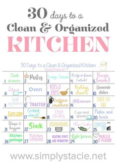 30 Days to a Clean & Organized Kitchen - Get your kitchen in shape for the new year with this fun cleaning challenge.
