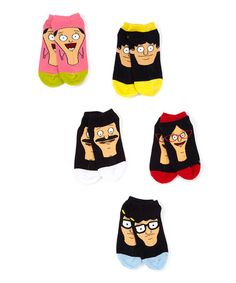 Another great find on #zulily! Bob's Burgers Faces Five-Pair Socks Set - Adult #zulilyfinds