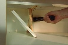 How to remove shelves from cabinets