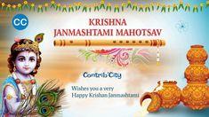 """Gokul me hai jinka waas, Gopiyo sang jo karey raas, Devki-Yashoda jinki maiya, aise hamare kishan kanhaiya."" May Lord Krishna fulfill all your wishes. Vasantkamal Tours wishing you and your Family a Very Happy Janamasthami! Happy Janmashtami Image, Janmashtami Status, Janmashtami Images, Janmashtami Wishes, Krishna Janmashtami, Radha Krishna Love, Lord Krishna, Janmashtami Quotes In Hindi, Janmashtami Celebration"