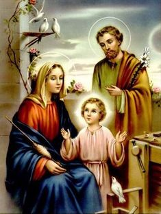 Holy Family Pictures, Mother Mary Pictures, Jesus And Mary Pictures, Images Of Mary, Pictures Of Jesus Christ, Religious Pictures, Angel Pictures, God Pictures, Jesus Smiling