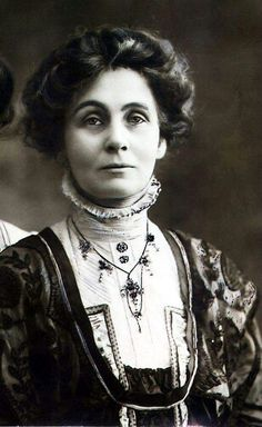 """Emmeline Pankhurst, Suffragette, 1858-1928. Famous for her contribution to the question wether women were """"persons"""" under canadian law. (wikipedia)"""