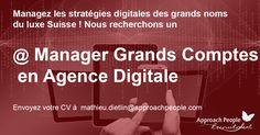 Rejoignez une prestigieuse agence #digitale à #Lausanne ! #CDI Key Account Manager : http://www.approachpeople.com/international/job-description/?id_job=14264 #jobs #Suisse #marketing