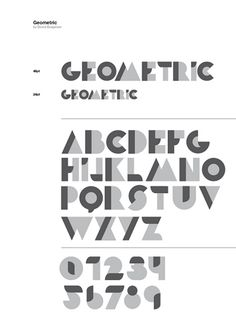 The World's Best Photos of typograpy Geometric Type, Typography, Lettering, Name Design, World Best Photos, Simple Shapes, Recherche Google, Color Patterns, Vibrant Colors