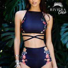 Sexy Brazilian Bikini Set 2017 High Neck Swimwear Women Print Biquini High Waist Swimsuit Maillot de Bain Femme Beachwear S-XL Sexy Bikini, Bikini Tops, Bikini Swimsuit, Strap Bikini, Bikini Beach, Halter Bikini, Bikini 2017, Swimsuit Tops, Fashion Clothes