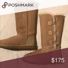 Never worn UGG boots Never worn, size 8 brand new light brown tall ugg boots. Super warm, cute, and cozy! (No box) I actually have a pair of these in dark brown, and black as well. Let me know if you'd like to see pictures! 💋💋 UGG Shoes Winter & Rain Boots