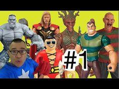 #1 Brinquedos Hulk Capitão América Sandman Thor Homem Elástico Guardiões...