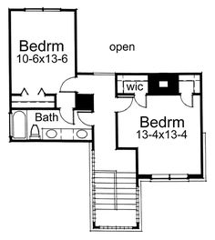 Contemporary Prairie Style Southwest House Plan 65844 Level Two