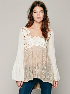 Free People Cutwork Pieced Tunic at Free People Clothing Boutique