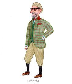 2123e928adf Federico at Tweed Run  tweedrun  mensfashion  tweed  corduroy   fashionillustration  slowboy